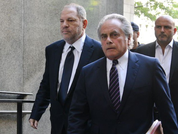 Harvey Weinstein and his defense lawyer, Benjamin Brafman.