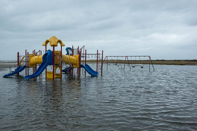 A playground in Breezy Point after Superstorm Sandy