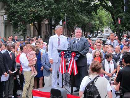Assemblyman Daniel O'Donnell (brother of Rosie) with his husband John <br/>