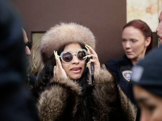 Cardi B leaves Queens County Criminal Court on January 31, 2019