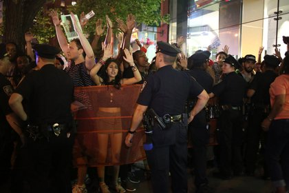 At 42nd and 9th Avenue (Ellen Moynihan/Gothamist)