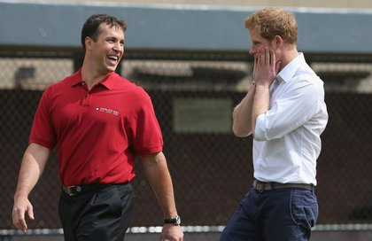 Mark Teixeira was on hand to reassure the Prince that he needs to work on it