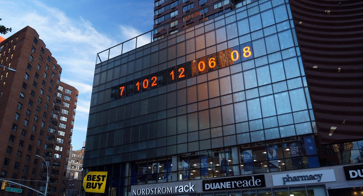 Union Square's Giant Metronome Is Now A Climate Crisis Countdown Clock