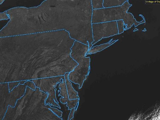 No clouds within hundreds of miles on this GOES-16 visible image