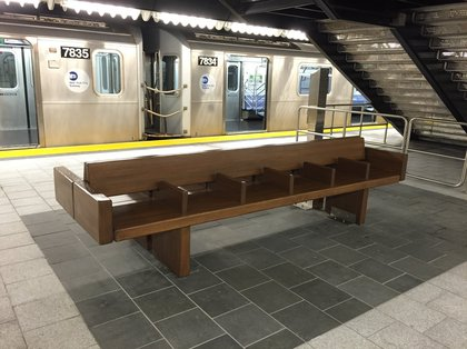This is what a new subway bench looks like<br/>