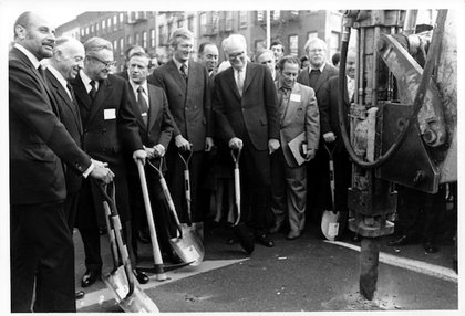 Second Avenue Subway Groundbreaking, 10/27/1972; NYCTA Photograph Unit Collection. (Courtesy of New York Transit Museum)