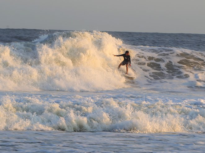 Photos Videos Rockaway Beach Surfers Defy Authorities For