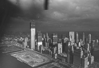 World Trade Center under construction, circa 1970. (Hulton Archive/Getty Images)