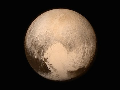 Pluto, up close and personal.</br>