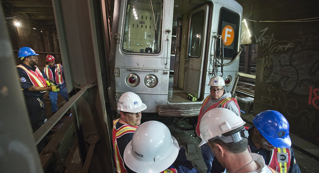f train accident today
