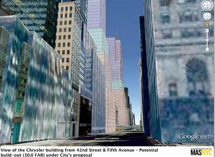 "Renderings, based on the city's February 28, 2013 presentation, created by Environmental Simulation Center for the <a href=""http://gothamist.com/2013/04/19/midtown_easts_possible_future_skysc.php#photo-2"">MAS, which opposed the rezoning plan</a> (Municipal Arts Society)"