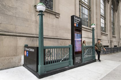 Subway entrance at West 70th Street and Central Park West (MTA Photos)