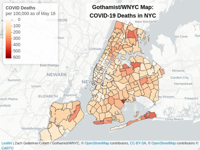 upper west side zip code map Interactive Map Shows Nyc Covid 19 Deaths By Zip Code Starrett