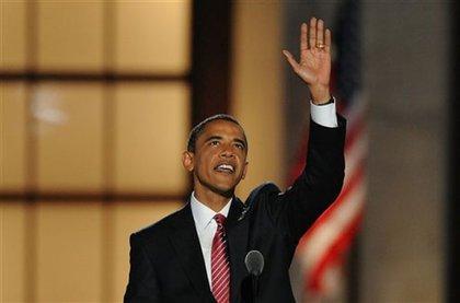 Barack Obama, the Democratic nominee