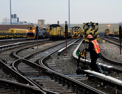 New York City Transit readies work equipment at the 38th Street Yard in Brooklyn in advance of a snow storm<br/>