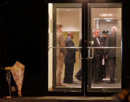 Police inside 35 Bethune Street (Getty Images)