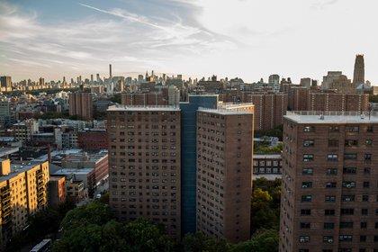 Manhattanville Houses. (Scott Heins / Gothamist)