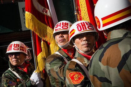 Members of the 'Republic of Korea Marine Corps Veterans of Eastern United States'