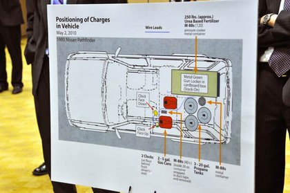 Diagram of the bomb in the Nissan Pathfinder