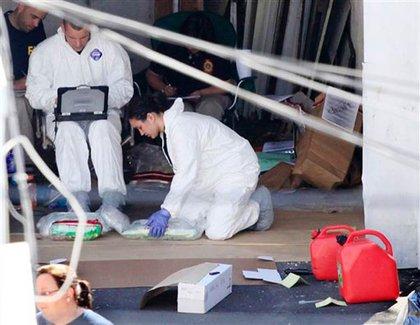 Investigators at Shahzad's Bridgeport home