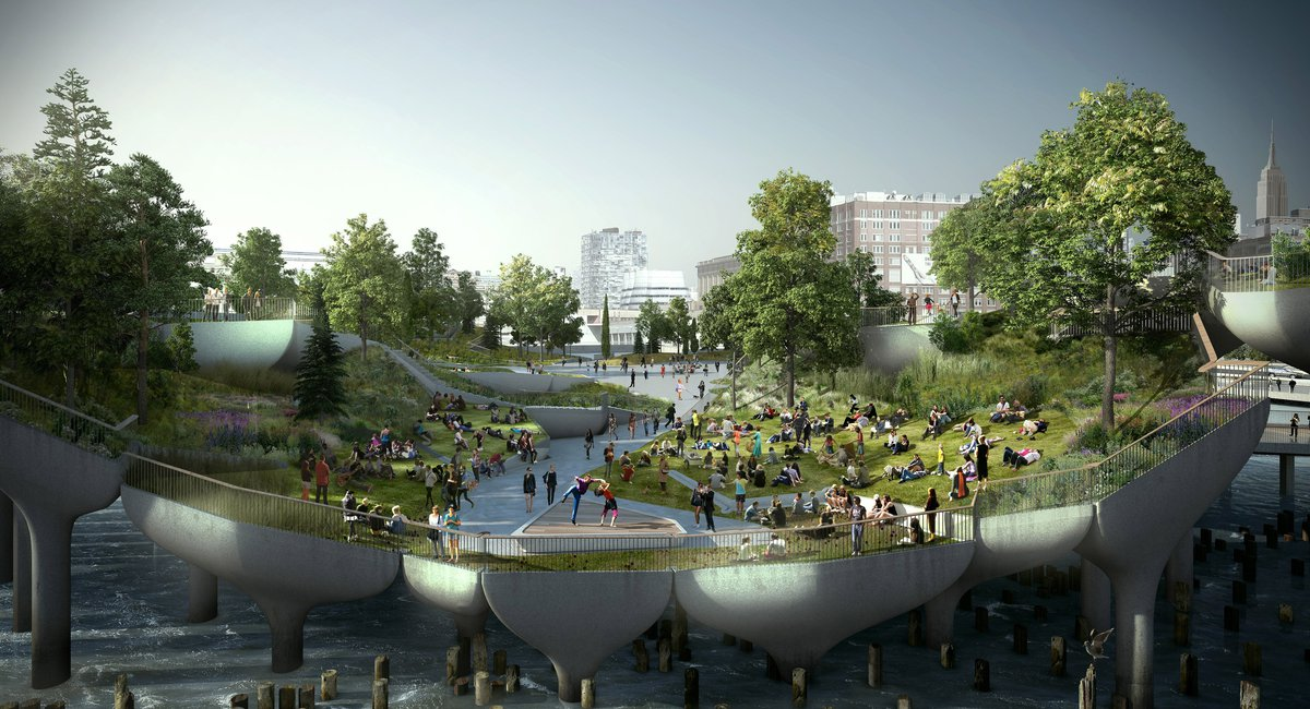 Pier 55, A Floating Park On The Hudson, Is Finally Taking Shape