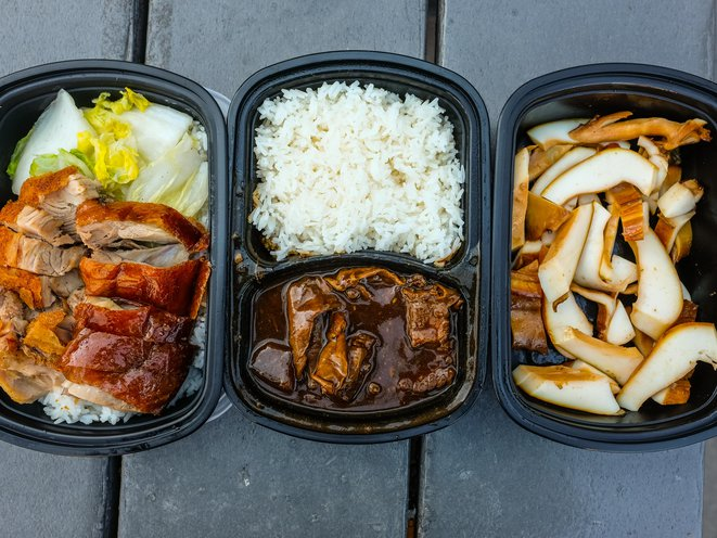 Roasted Crispy Skin Pork and Roasted Duck Combo ($7.25), Beef Briskets with Daikon ($8.50), Brine Cuttlefish, half pound ($5.50)