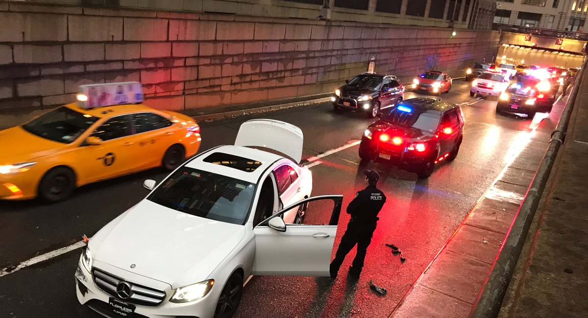 Videos: Police Arrest Fleeing Driver Who Can't Escape Holland Tunnel Traffic