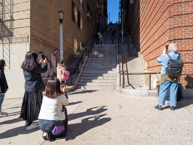 Tourists Flood The 'Joker Stairs,' Frustrating Bronx