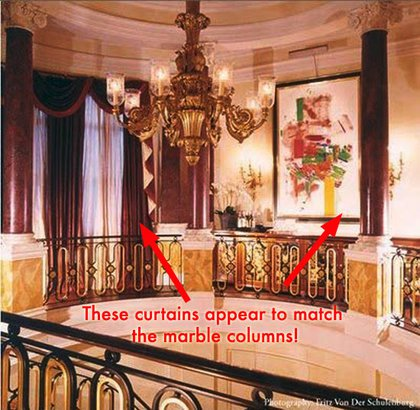 London Townhouse: We imagine there are special contraptions to clean this chandelier.