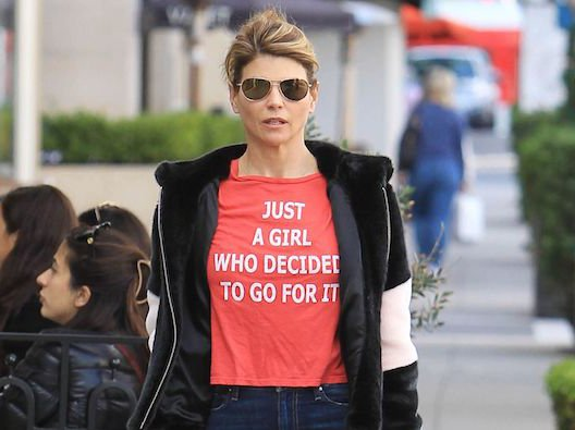 """Lori Loughlin, accused college admissions scammer, or, a woman """"who decided to go for it."""""""