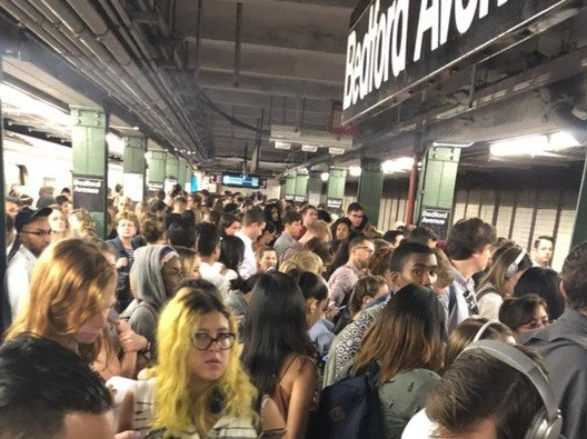 """What an """"absolute nightmare"""" situation on the L train might look like"""