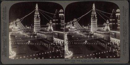 Luna Park at Night (c1903) via the New York Public Library