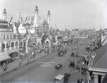Luna Park and Surf Avenue by Irving Underhill, via the Brooklyn Museum's flickr