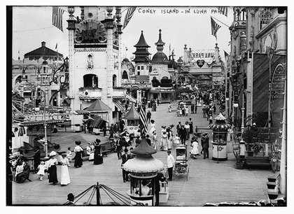 Coney Island, in Luna Park by Bain News Service, via the Library of Congress' flickr