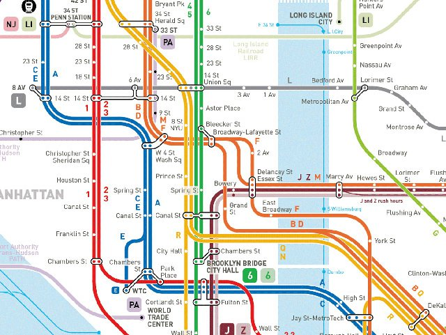Nyc Subway Map Manhattan Check Out This Update Of The 'Smooth' NYC Subway Map   Gothamist