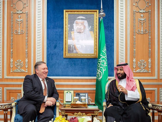 Secretary of State Michael R. Pompeo meeting with Saudi Crown Prince Mohammed bin Salman in Riyadh, Saudi Arabia earlier this week