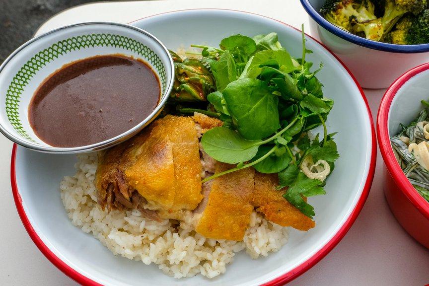 Mandarin Duck Rice Bowl ($ 15.50)
