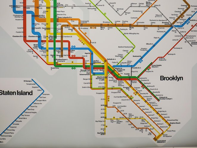 Brooklyn Map With Subway.Photos Mta Is Trying Out Six Reimagined Subway Maps At Brooklyn Station Gothamist