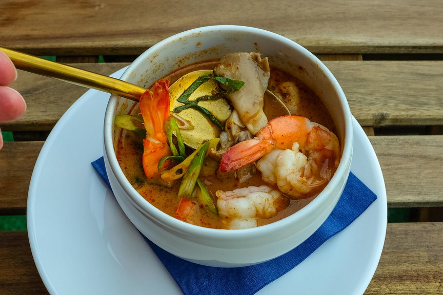 Spicy and Sour Lemongrass Soup ($8)