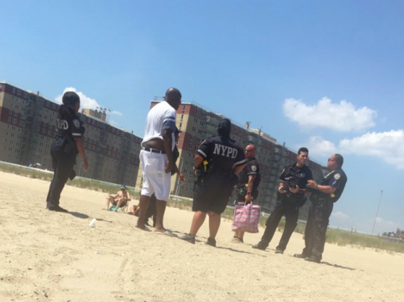 Police arrested a nutcracker salesman on Rockaway Beach on Sunday