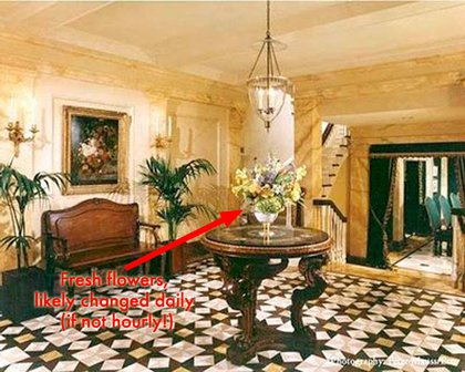 NYC Townhouse: This confirms that rich people like their homes to look like fancy hotel lobbies.