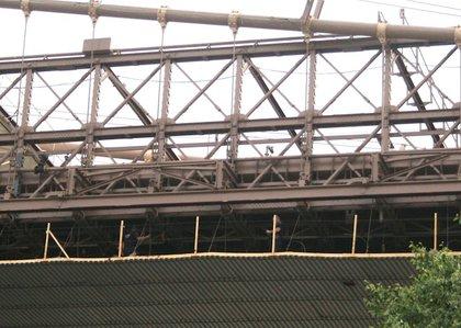 NYPD on the bridge