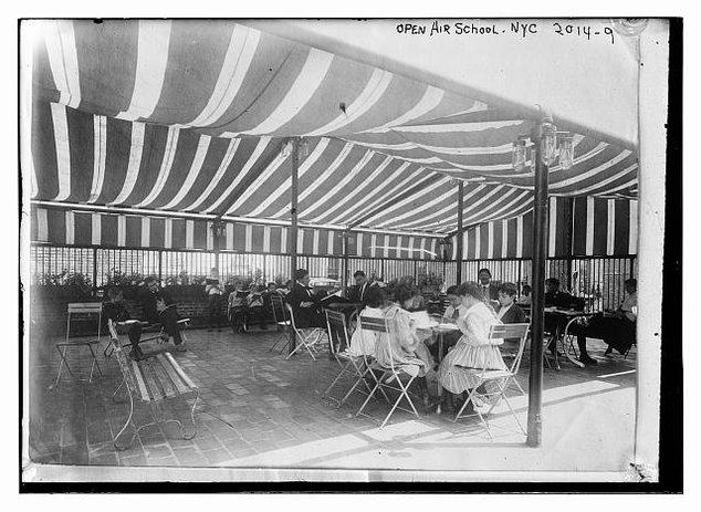 An open air school in NYC circa 1900.