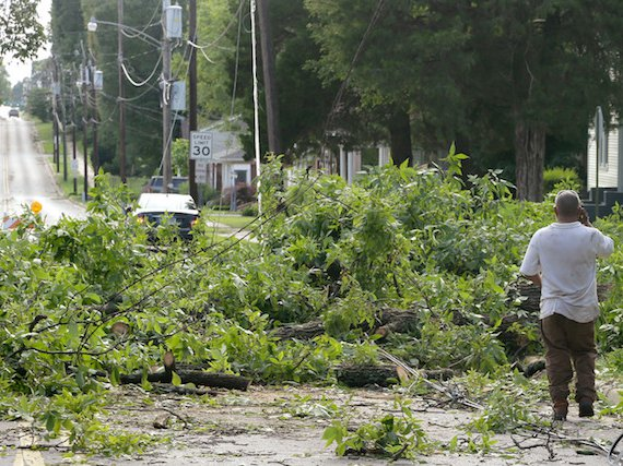 This is Jonesboro, Arkansas, after a 2014 storm. By 2080, New Yorkers will feel like they live there, not here.
