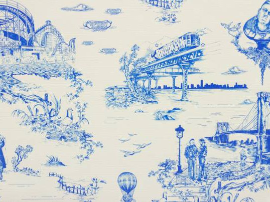 This Brooklyn Toile Wallpaper Was