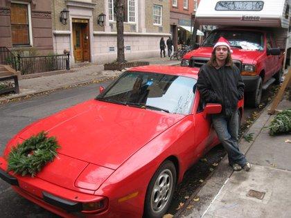 Henry Romp and his Porsche