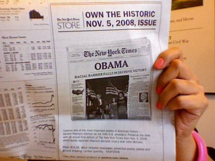The NY Times 11/5/08 paper is now for sale online...for $14.95.
