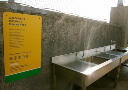 The sinks provided for those who want to fish.
