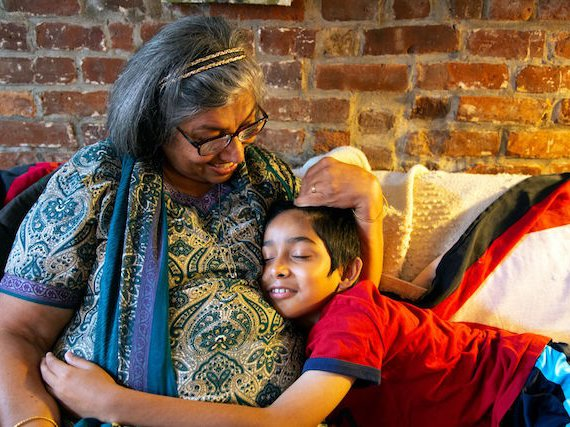Rachna Daryanani and grandson.
