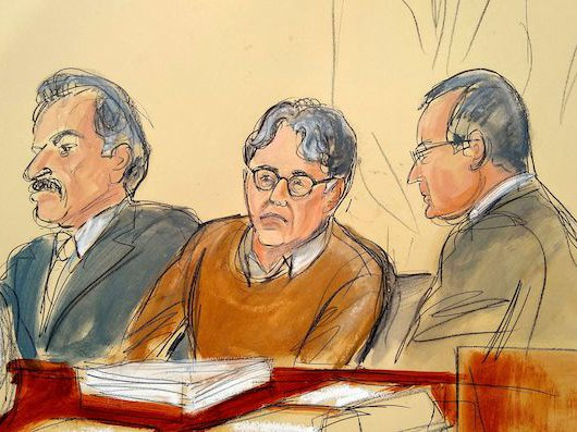 A courtroom sketch from the trial of alleged sex cult leader, Keith Raniere.
